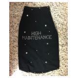 "https://www.ebay.com/itm/114171734292 KB0062: Bedazzled Dog Clothing ""HIGH MAINTENANCE"" Medium (2)"