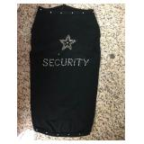 "https://www.ebay.com/itm/114171738519 KB0064: Bedazzled Dog Clothing ""SECURITY"" Large (2)"