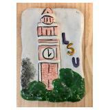 https://www.ebay.com/itm/114176780422 KB0098: LSU Memorial Tower on Plaster by Jenise $10