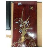 https://www.ebay.com/itm/124123537178 KB0013: Metal Inlayed Wood Art set of 2