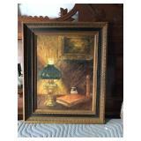 https://www.ebay.com/itm/114154234027 LAN770: Shimelea Lewis 1966 Cozy Corner Oil On Board Still Lif