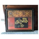 https://www.ebay.com/itm/114154235610 LAN775: Still Life Magnolia Mixed Media Art framed Local Picku