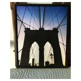 https://www.ebay.com/itm/114154236009 LAN776: Brooklyn Bridge Giclee Print On Board Local Pickup $20