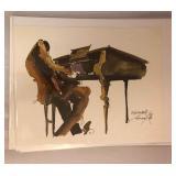 "LAN0806: Leo Meiersdorff Jazz Print 10""X12.5"" Local Pickup $25"