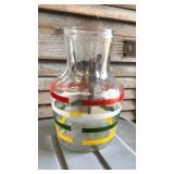 https://www.ebay.com/itm/114158254075 LAN0817: 1940s Style Strip Pattern Ice Tea Pitcher Local Picku