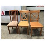 "https://www.ebay.com/itm/124151298885PA010: Wooden Chair 17""x17.5""x36"""