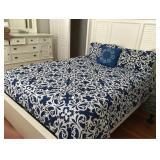 https://www.ebay.com/itm/114186824824PA028: White on Navy Queen Comforter $20