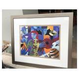https://www.ebay.com/itm/124154722230PA046 Jazz Scene I by John Hillmer Framed Art Print $50