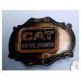 https://www.ebay.com/itm/124143286943AB0007 USED VINTAGE CAT DIESEL POWER BRONZE BELT BUCKLE $10.00