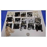 BOX074AA COSTUME JEWELRY LOT OF FIFTEEN PIERCED EARRINGS $20.00 LOT #1https://www.ebay.com/itm/1141