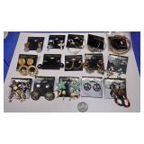 BOX074AD COSTUME JEWELRY LOT OF FIFTEEN PIERCED EARRINGS $20.00 LOT #6https://www.ebay.com/itm/1241