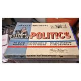 BOX074B VINTAGE PARKER BROTHERS BOARD GAME 1952 GAME OF POLITICS (MAY be missing pcs) $$5 Pay online
