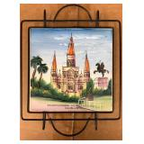 https://www.ebay.com/itm/114154179812KB0014: St. Louis Cathedral Painted Tile with Trivet $20