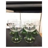 https://www.ebay.com/itm/114154180440KB0015: Green Glass Stemware, 5 pieces, $5 each