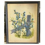 https://www.ebay.com/itm/124124651564KB0026: Needlepoint Art Blue Posts with Barbed Wire and Blue F