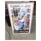 https://www.ebay.com/itm/124123638795LAN794 Cooking with Jazz Framed Local Pickup $95