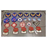 https://www.ebay.com/itm/114185493615	AB0213 LOT OF 23 VINTAGE MILITARY UNIFORM PATCHES $60.00 Box 7