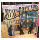 https://www.ebay.com/itm/114188201147 PA054 New Orleans French Quarter Hanging Wall Art $20 2'x2'
