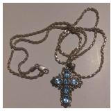 https://www.ebay.com/itm/124156099703 RX4152016 STERLING SILVER $40.00 24 INCH ROPE CHAIN & CROSS WI