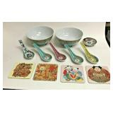 SM2024: ASIAN BOWLS/SPOONS/COASTERS LOT OF 12 PCS $10	Pay online by Venmo: @Rafael-Monzon-1, PayPal
