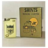 """https://www.ebay.com/itm/114199940725GB025: NFL SAINTS MUSICAL LIGHTER """"SAINTS GO MARCHING IN"""" WITH"""