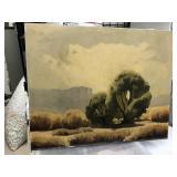 https://www.ebay.com/itm/114203034324GB026: Wilson Hurley Original Oil on Board Midwest Landscape L