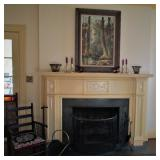 Antique Fireplace Screen & Antique Chair