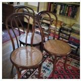 Set/4 Cane Seat Chairs