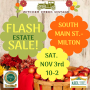 FLASH ESTATE SALE! Join Us In Milton For This Wonderful One Day Only Sale!