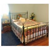 """""""Antique Look"""" queen brass bed"""