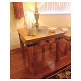 Farmhouse Style End Table W/Slate Inlay