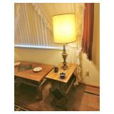 Farmhouse Style Magazine Table W/Slate Inlay