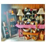 Primitive Bins, Cabinets, Wooden Stool & Lots More!