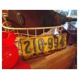 WV License Plate-1940