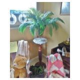 Heavy Oak Pedestal Plant Stand