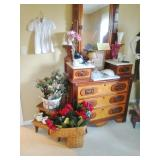 Wooden Step Stool-New Floral Decor