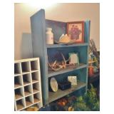 Antique Cupboard With Original Blue Paint-Appraisal: $6000