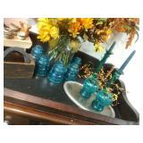 More Vintage Insulators & Crackle Glass