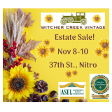 Conveniently Located Nitro Estate Filled In Every Room With Trinkets, Treasures & More!