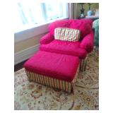 Comfy Oversized Chair WIth Matching Ottoman!