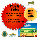FLASH ESTATE SALE! ONE DAY ONLY!-South Charleston Mid-Entry With Quality Items & It All Must Go!
