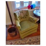 Vintage Olive Velour Chair