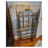 Brass Bed-Linens-CD Rack