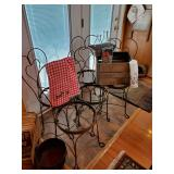 Wonderful Set Of Cast Iron Ice Cream Parlor Chairs