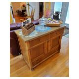 Gorgeous Sideboard W/Beveled Glass Top