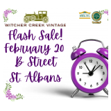 FLASH ESTATE SALE! ONE DAY ONLY! February 20th-B Street In St. Albans!