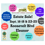 Eleanor Estate PACKED! Antiques-Collectibles-Fishing-Clocks-Tins-Glass-Pottery-Advertising & MORE!