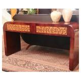 3.French Art Deco rosewood python sofa table-$2,750