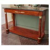 4.French Empire hall table (1840's)-$2,500