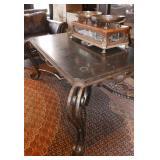15.Gilbert Poillerat wrought iron table w/slate top-$10,000